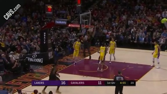 Swish Block Leads to LBJ Dunk