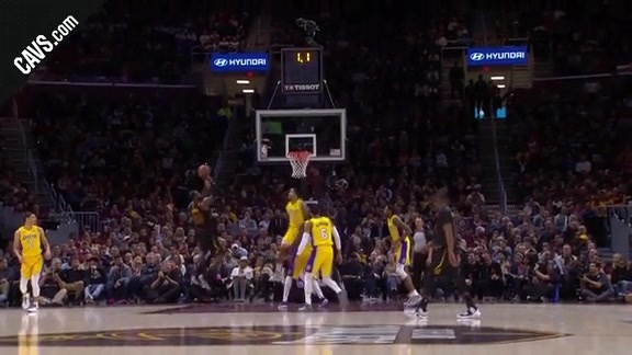 LBJ Beats the First Quarter Buzzer