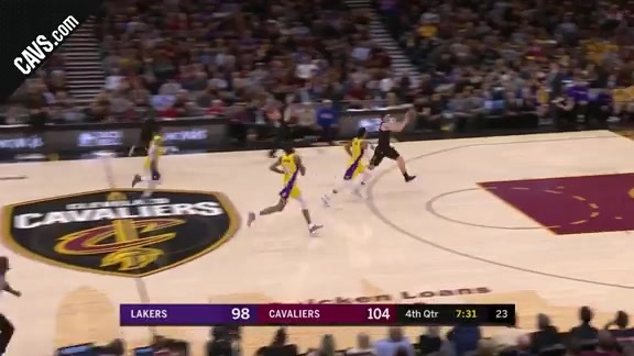 Cedi Osman with the Fastbreak Finish