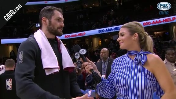 #CavsLakers On-Court Postgame: Kevin Love - December 14, 2017