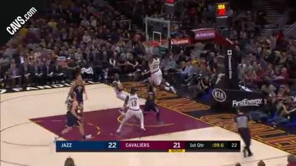 LBJ Receives Perfect Alley-Oop