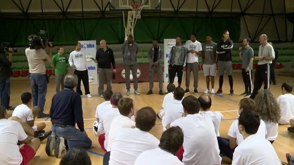Celtics Attend Special Olympic B-Ball Clinic