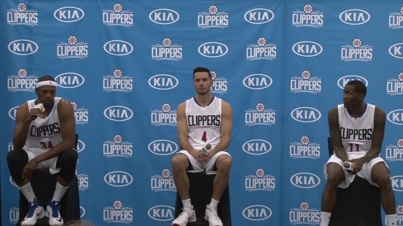 Paul Pierce, J.J. Redick and Jamal Crawford: Media Day 2015
