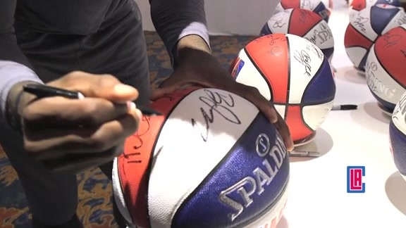 Behind The Scenes: NBA Global Games Basketball Signing