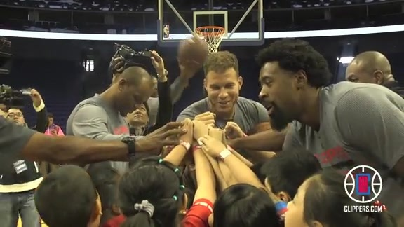 Clippers Take Part in NBA Cares in Shanghai, China