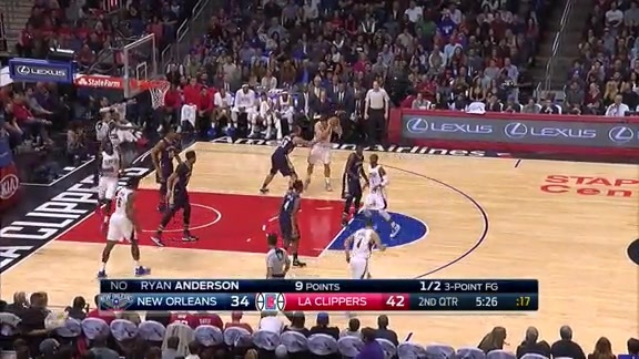 Pelicans vs. Clippers First Half Highlights - 11/27/15