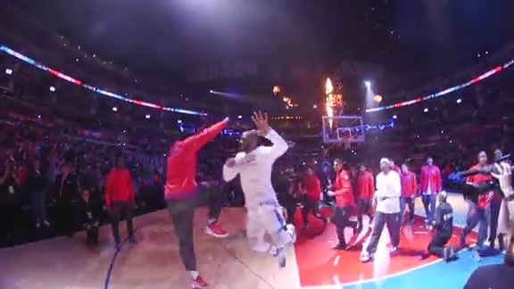 Player Introductions: Clippers vs. Bulls - 1/31/16