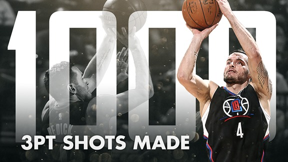 J.J. Redick 1,000 3-Pointers Milestone