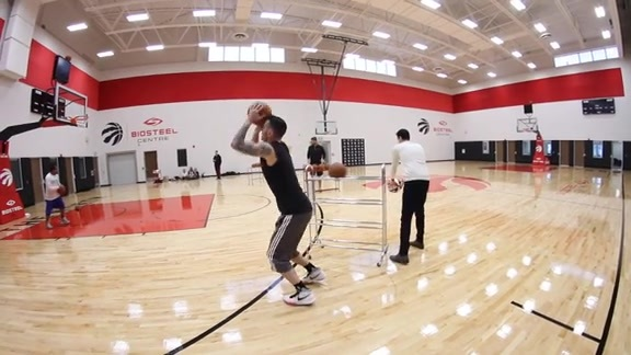 JJ Redick 3-Point practice for NBA All-Star 2016