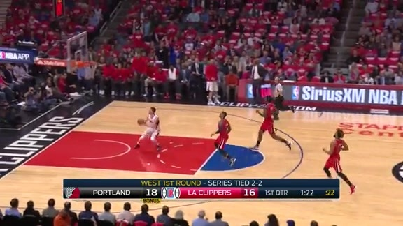 Trail Blazers vs Clippers First Half Highlights - 3/27/16
