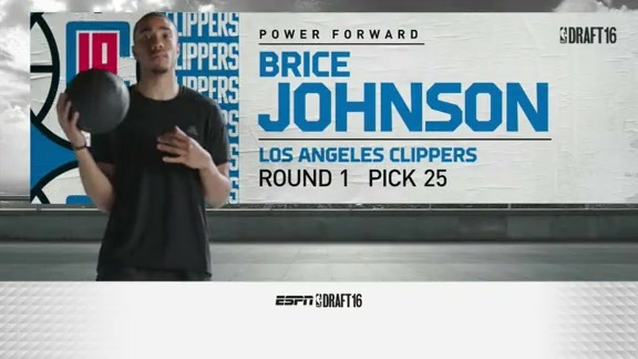 LA Clippers 25th Pick : Brice Johnson