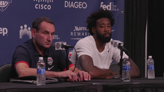 Postgame Press Conference: Coach K and DeAndre Jordan - 7/24/16