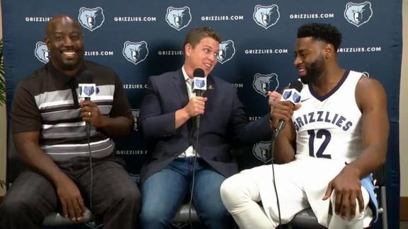 2017 Grizzlies Media Day: Tyreke Evans
