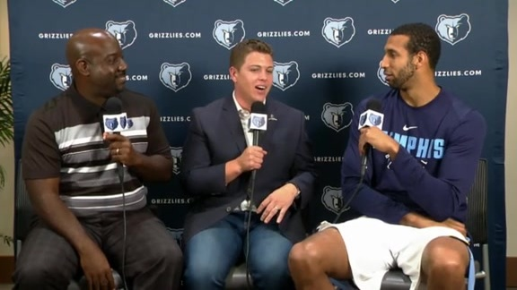 2017 Grizzlies Media Day: Brandan Wright