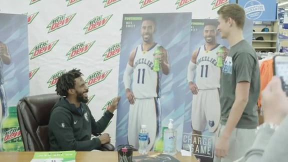 Mike Conley makes special appearence presented by Mountain Dew