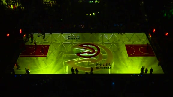 Hawks Debut New 3D Court Projection
