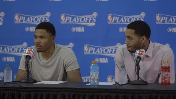 Bazemore, Scott Meet Media After Huge Game 5 Win