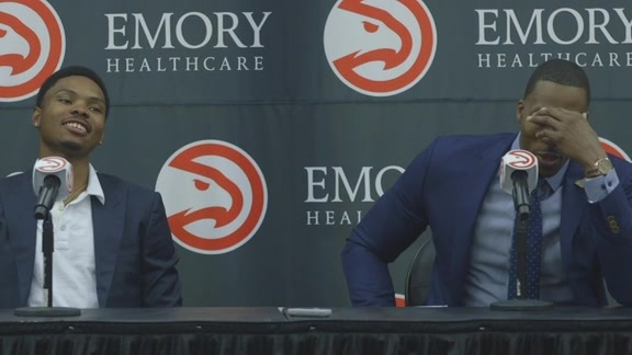 Bazemore & Howard Get Emotional While Talking Hawks, City of Atlanta