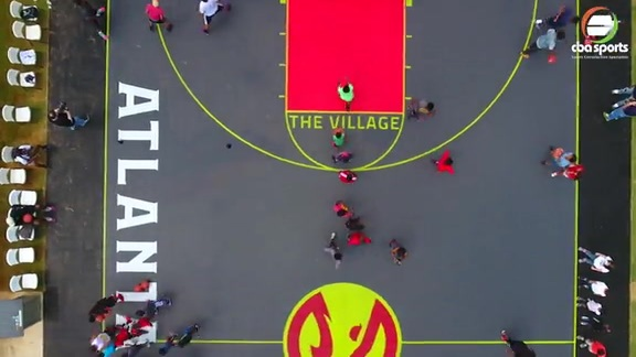 Drone Captures Perfect Footage of Hawks' New Court At The Village