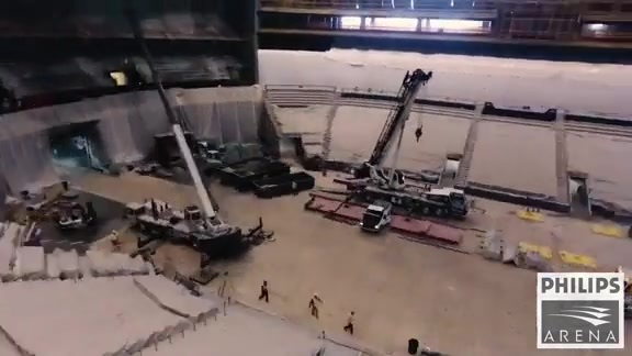 Drone Footage Shows Incredible Philips Arena Transformation Progress