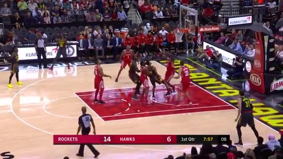 Bazemore Notches 18 vs. Rockets