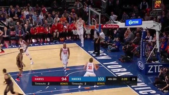 Ersan Ilyasova Hot From 3-Point Range vs. NY Knicks
