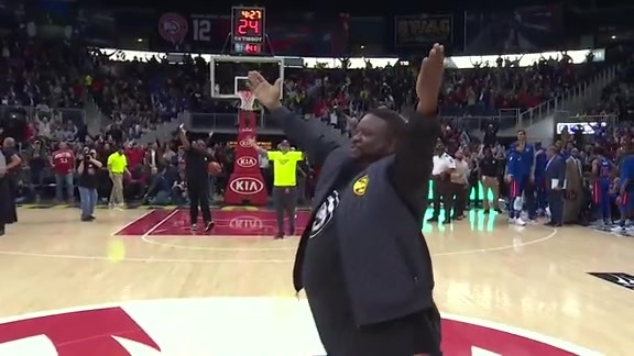 For Second Time In Three Weeks, Hawks Fan Hits Half Court Shot For $10K