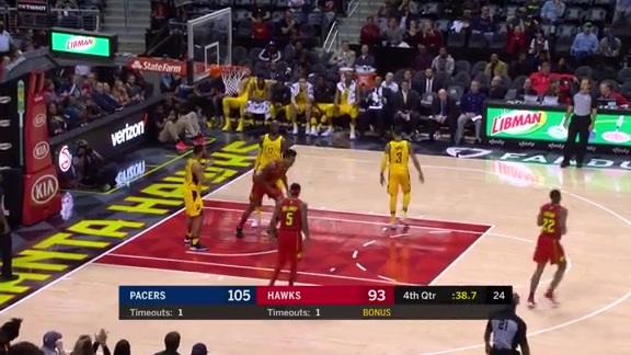 John Collins Nearly Perfect vs. Indiana Pacers