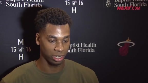 Shootaround: Hassan Whiteside (11/30/2015)