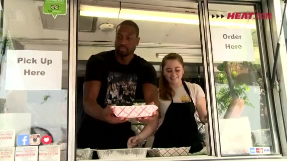 Wade Buys Lunch for HEAT Staff