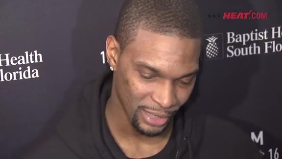 Shootaround: Chris Bosh (2/9/16)