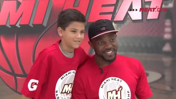 Udonis Haslem Visits HEAT Camp