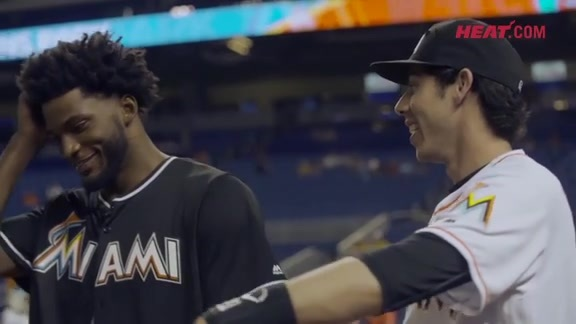 Justise Winslow Throws the First Pitch at a Marlins Game