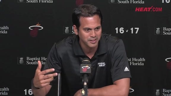 Media Day 2016: Erik Spoelstra (Part 1)