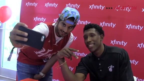 Josh Richardson at Xfinity Store Grand Opening