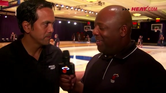 Bahamas Training Camp Day 1: Erik Spoelstra 1-on-1 with Jason Jackson