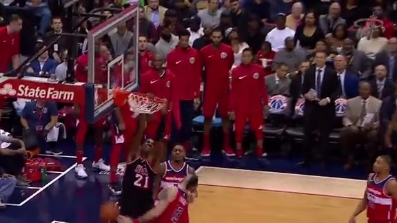 Whiteside Highlights vs Wizards (11/17/17)