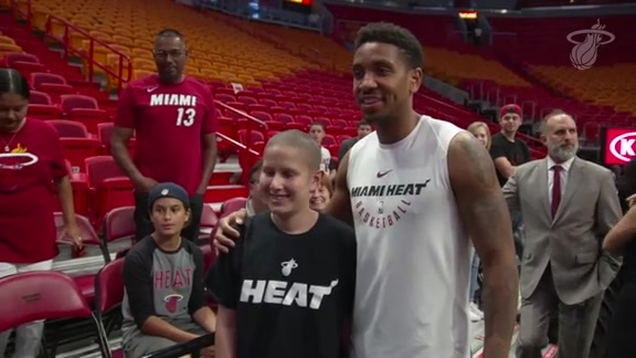 McGruder Invites Children Battling Cancer To HEAT Game