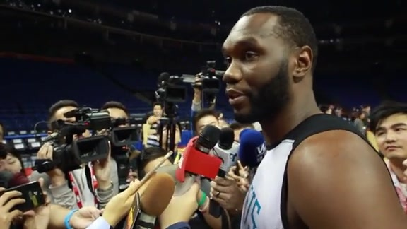 NBA Global Games Practice Sound - Al Jefferson - 10/13/15