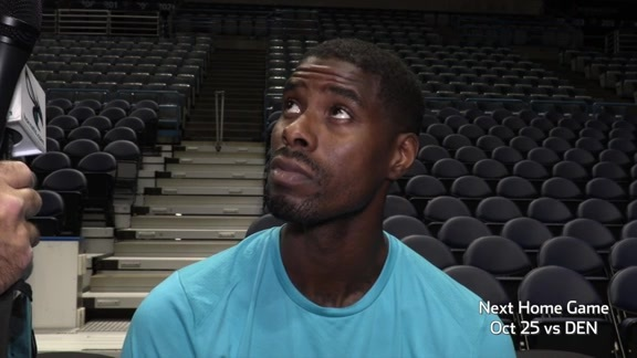 Hornets Shootaround | Marvin Williams - 10/23/17
