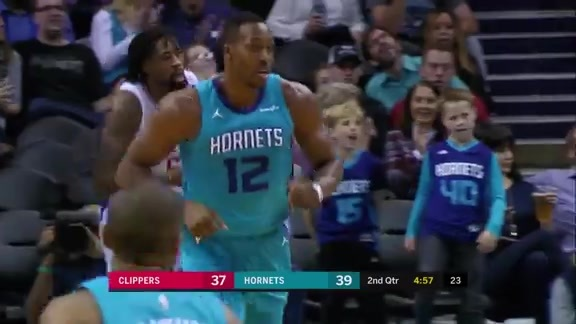 Hornets Highlights | Dwight Howard vs Clippers - 11/18/17