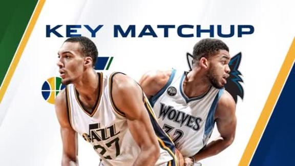 Tonight's Key Matchup - Gobert vs. Towns