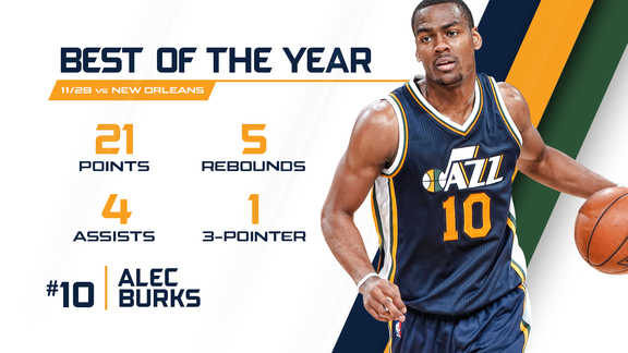 Alec Burks - Best of the Year