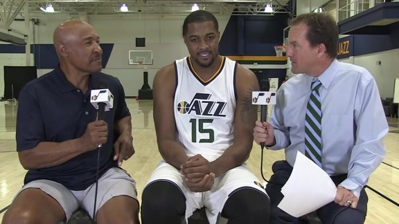 Derrick Favors Media Day 2015