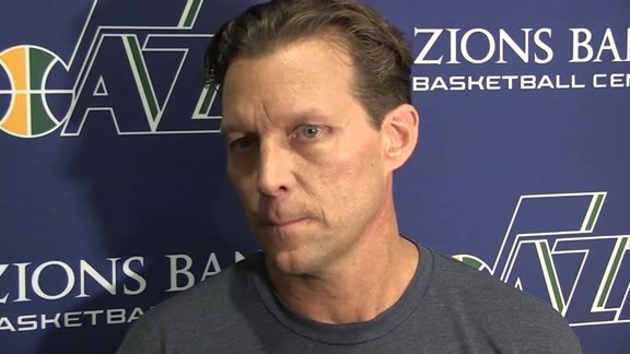 Quin Snyder first day of Training Camp