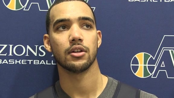 Trey Lyles on day three of training camp