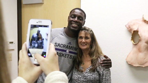 Darren Collison Visits Albie Aware