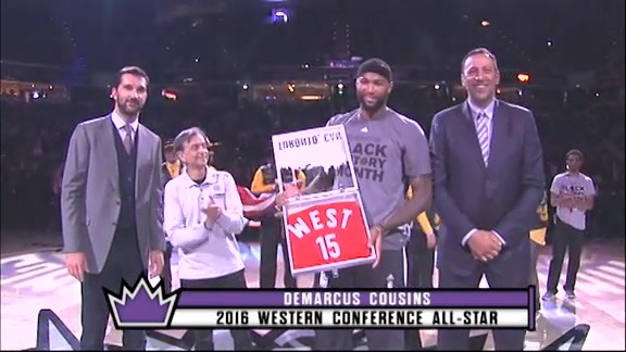 DeMarcus Cousins All-Star Jersey Presentation