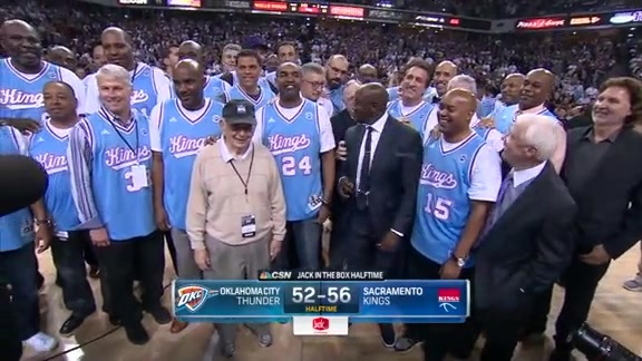 Kings Honor Team Legends at Halftime