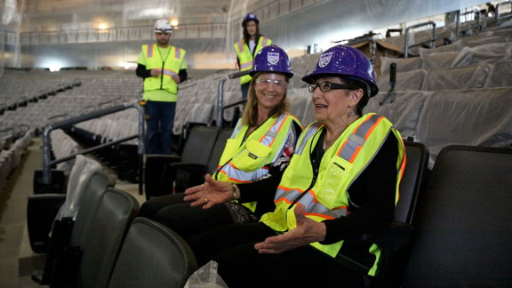 Season Ticket Member Installs First Seat at Golden 1 Center